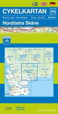 Cykelkartan Blad 4 Nordöstra Skåne : 1:90000