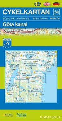 Cykelkartan Blad 19 Göta kanal : 1:90000