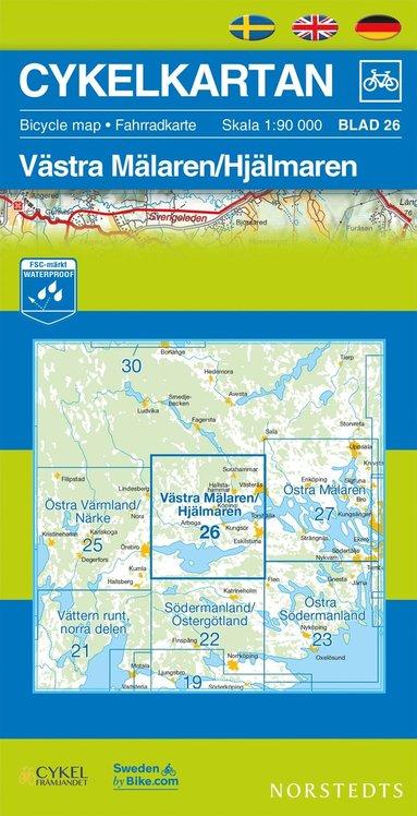bokomslag Cykelkartan Blad 26 Västra Mälaren/Hjälmaren : 1:90000