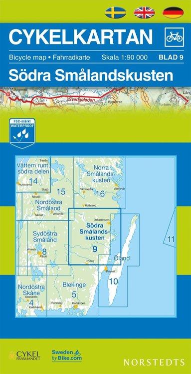 bokomslag Cykelkartan Blad 9 Södra Smålandskusten : 1:90000