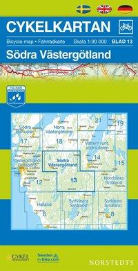 bokomslag Cykelkartan Blad 13 Södra Västergötland : 1:90000