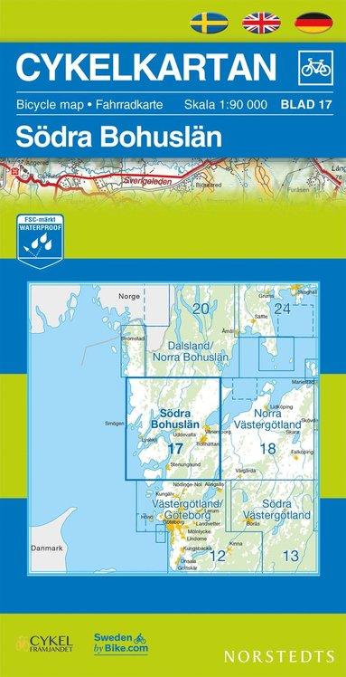 bokomslag Cykelkartan Blad 17 Södra Bohuslän : 1:90000