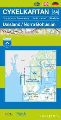 bokomslag Cykelkartan Blad 20 Dalsland/Norra Bohuslän : 1:90000