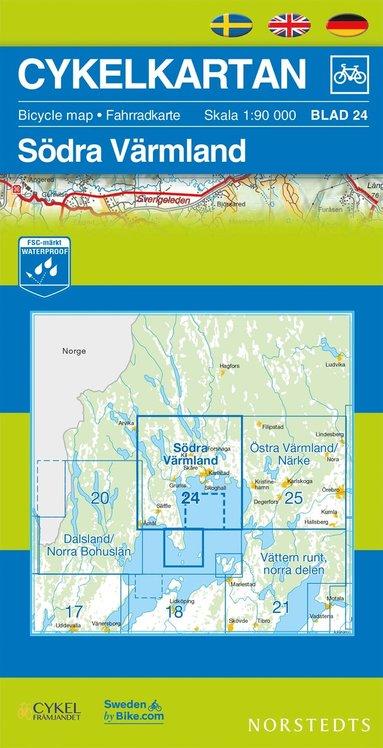 bokomslag Cykelkartan Blad 24 Södra Värmland : 1:90000