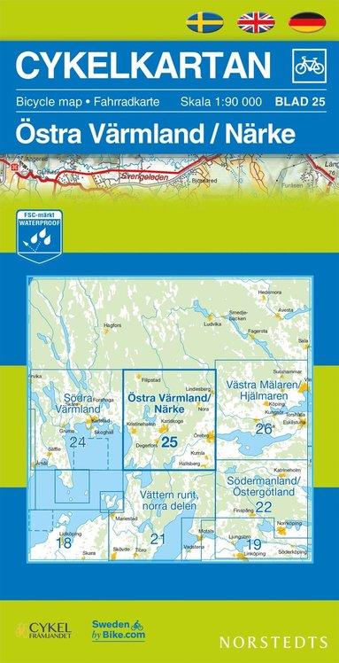 bokomslag Cykelkartan Blad 25 Östra Värmland/Närke : 1:90000