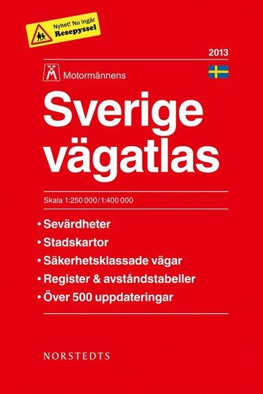 bokomslag Sverige Vägatlas 2013 Motormännen - 1:250000-1:400000