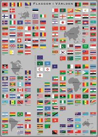 Flaggor i Världen - Flaggplansch i tub