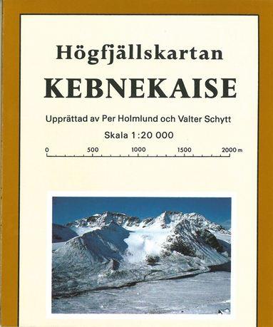 bokomslag Kebnekaise Högfjällskarta : 1:20000