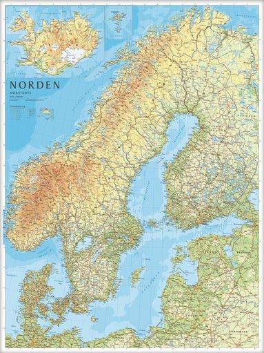 bokomslag Norden Väggkarta Norstedts 1:2milj i tub : 1:2milj