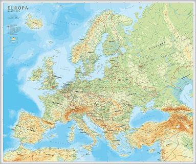 bokomslag Europa väggkarta Norstedts 1:5.5 milj i tub : 1:5,5milj