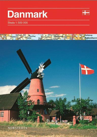 bokomslag Danmark vägkarta 1:500 000