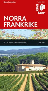 bokomslag Norra Frankrike EasyMap
