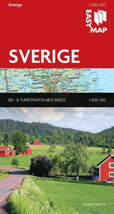 bokomslag Sverige EasyMap : 1:800000