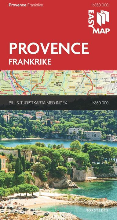 bokomslag Provence Côte d'Azur EasyMap : 1:350000