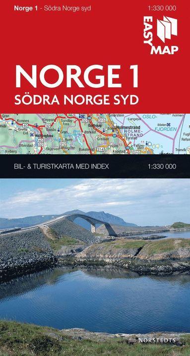 bokomslag Södra Norge syd EasyMap : 1:330000