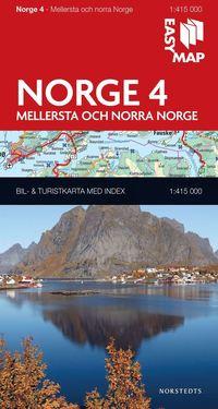 bokomslag Mellersta och norra Norge EasyMap