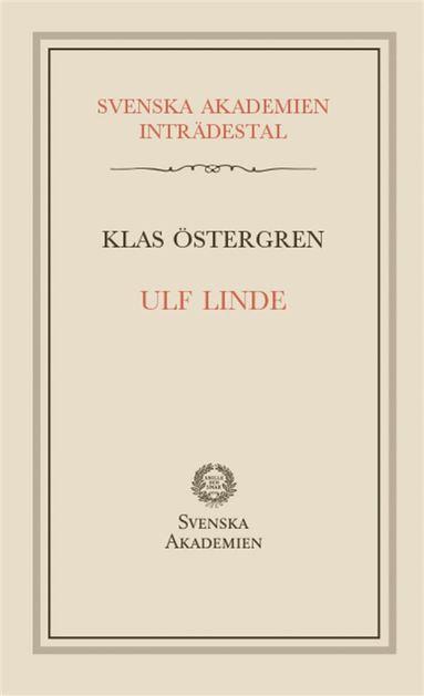 bokomslag Ulf Linde : inträdestal i Svenska akademien