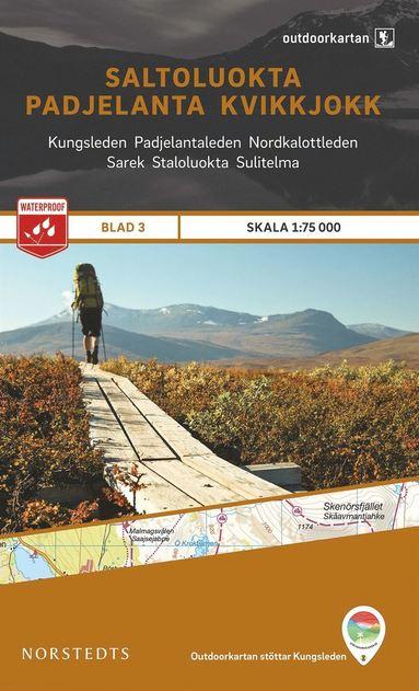bokomslag Outdoorkartan Saltoluokta Padjelanta Kvikkjokk : Blad 3 Skala 1:75000