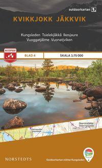 bokomslag Outdoorkartan Kvikkjokk Jäkkvik : Blad 4 skala 1:75000