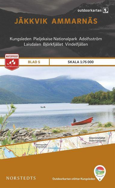 bokomslag Outdoorkartan Jäkkvik Ammarnäs : Blad 5 skala 1:75000