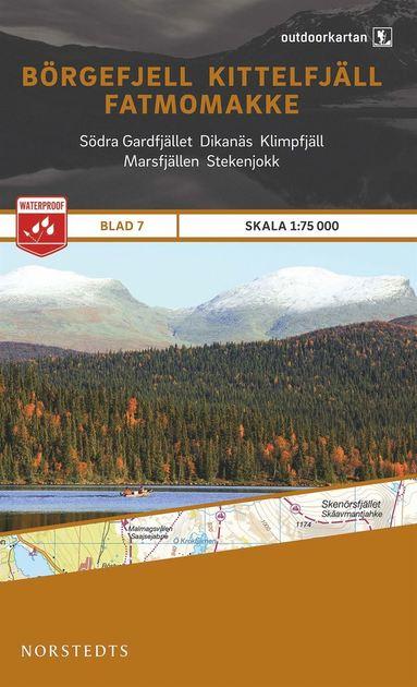bokomslag Outdoorkartan Börgefjell Kittelfjäll Fatmomakke : Blad 7 skala 1:75000