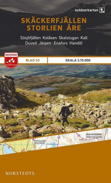 bokomslag Outdoorkartan Skäckerfjällen Storlien Åre : Blad 10 skala 1:75000