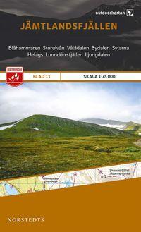 bokomslag Outdoorkartan Jämtlandsfjällen : Blad 11 skala 1:75000