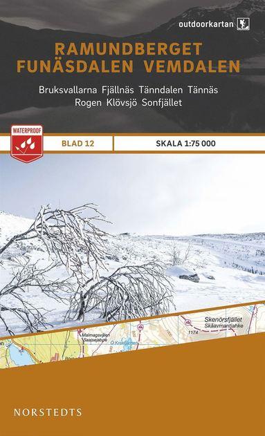 bokomslag Outdoorkartan Ramundberget Funäsdalen Vemdalen : Blad 12 skala 1:75000
