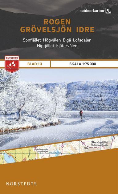 bokomslag Outdoorkartan Rogen Grövelsjön Idre : Blad 13 skala 1:75000