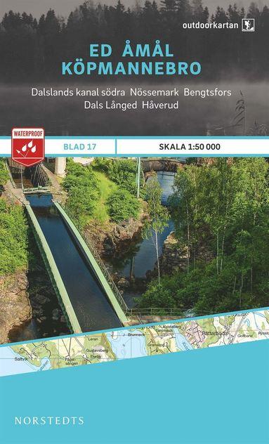 bokomslag Outdoorkartan Ed Åmål Köpmannebro : Blad 17 skala 1:50000