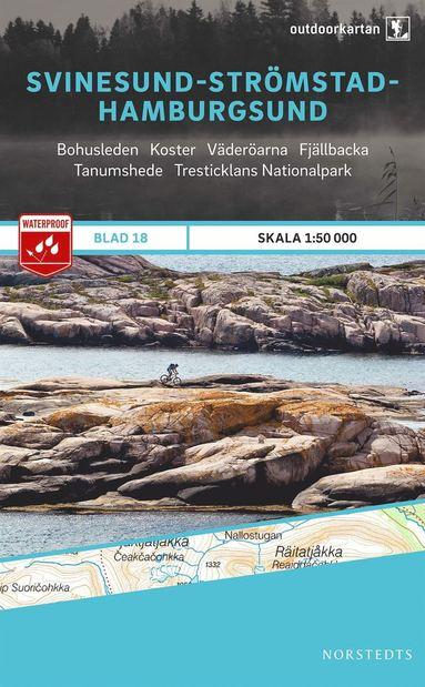 bokomslag Outdoorkartan Svinesund Strömstad Hamburgsund : Blad 18 skala 1:50000
