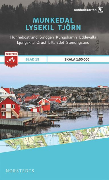bokomslag Outdoorkartan Munkedal Lysekil Tjörn : Blad 19 skala 1:50000