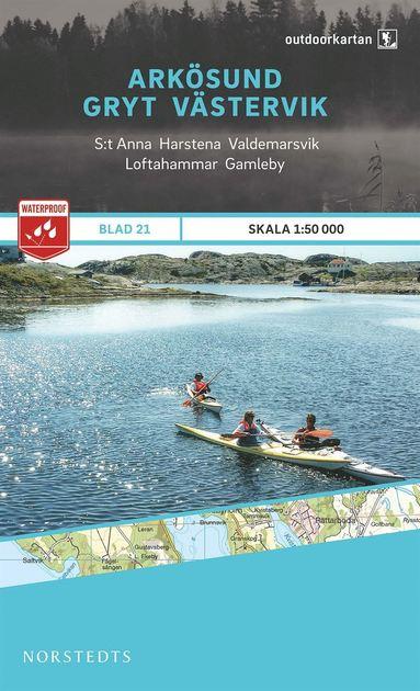 bokomslag Outdoorkartan Arkösund Gryt Västervik : Blad 21 skala 1:50000