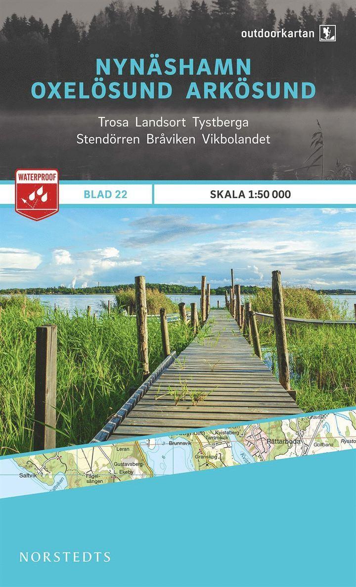 Outdoorkartan Nynäshamn Oxelösund Arkösund : Blad 22 skala 1:50000 1