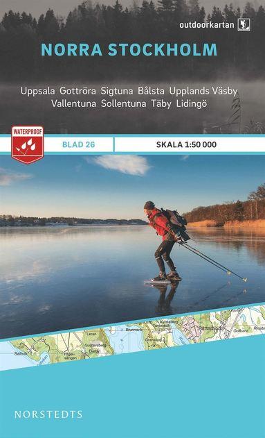 bokomslag Outdoorkartan Norra Stockholm : Blad 26 skala 1:50000