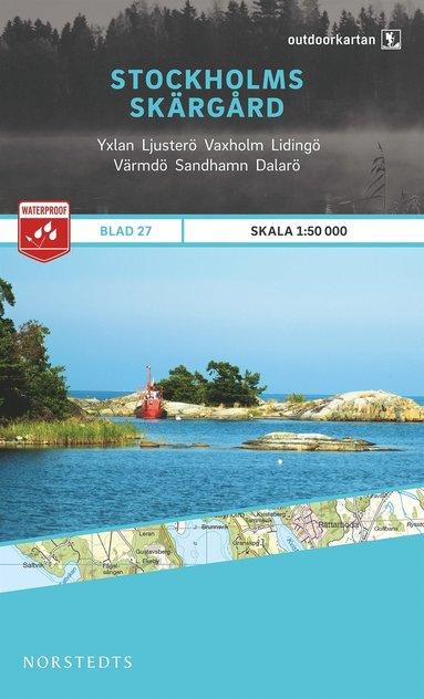 bokomslag Outdoorkartan Stockholms skärgård : Blad 27 skala 1:50000