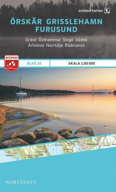 bokomslag Outdoorkartan Örskär Grisslehamn Furusund : Blad 28 skala 1:50000