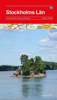 bokomslag Stockholms län karta : 1:150000
