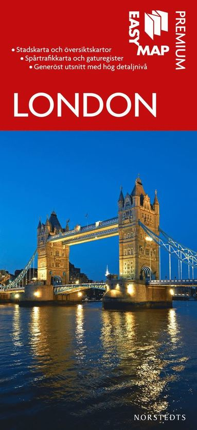 bokomslag London Premium EasyMap stadskarta : 1:15000