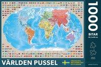 Pussel 1000 bitar Världen