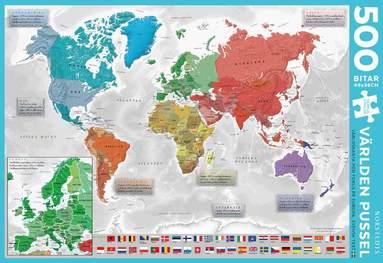 Pussel 500 bitar Världen 2