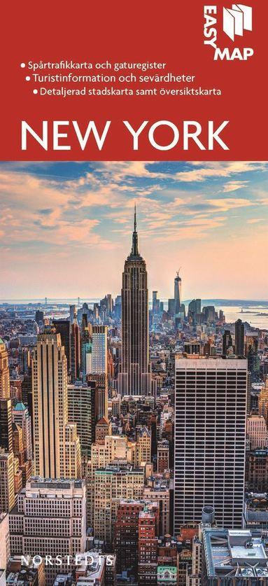 bokomslag New York EasyMap stadskarta