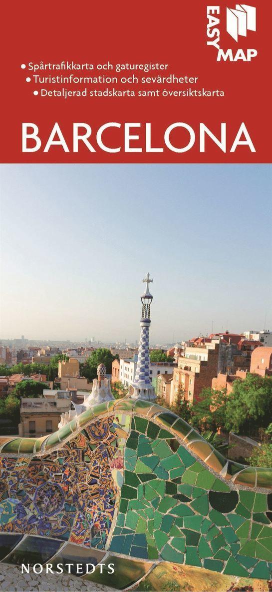 Barcelona EasyMap stadskarta 1