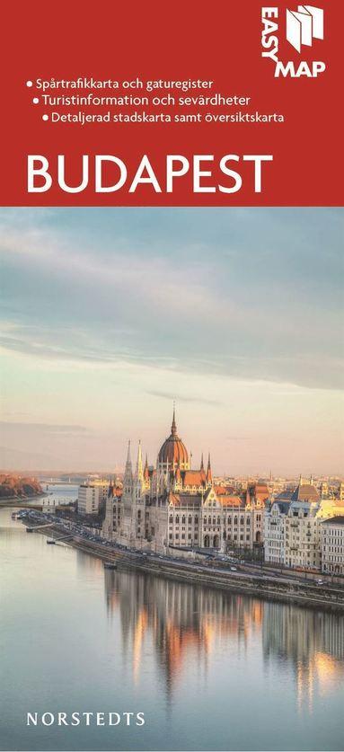bokomslag Budapest EasyMap stadskarta