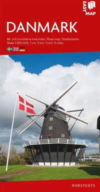 bokomslag Danmark EasyMap : Skala 1:300.000