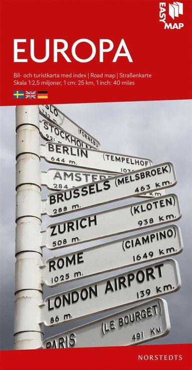 bokomslag Europa EasyMap : Skala 1:2,5milj
