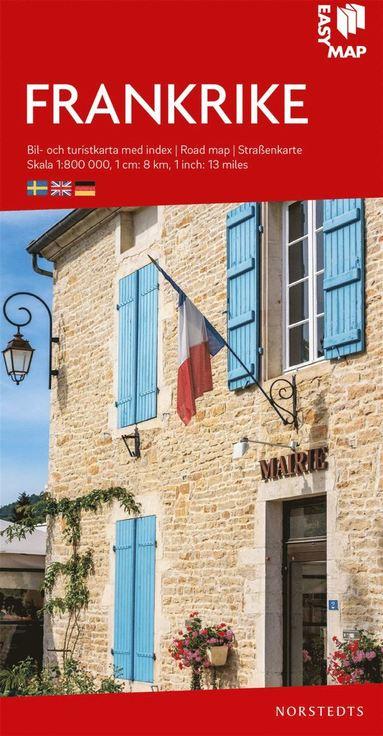 bokomslag Frankrike EasyMap : Skala 1:800.000