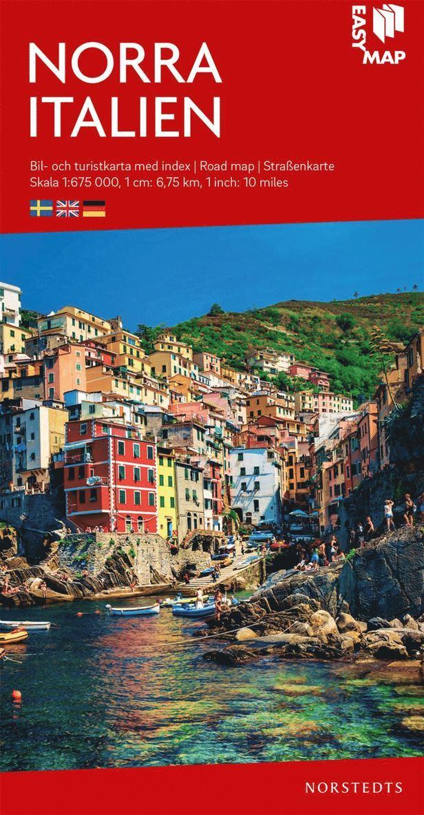 Norra Italien EasyMap : Skala 1:675.000 1