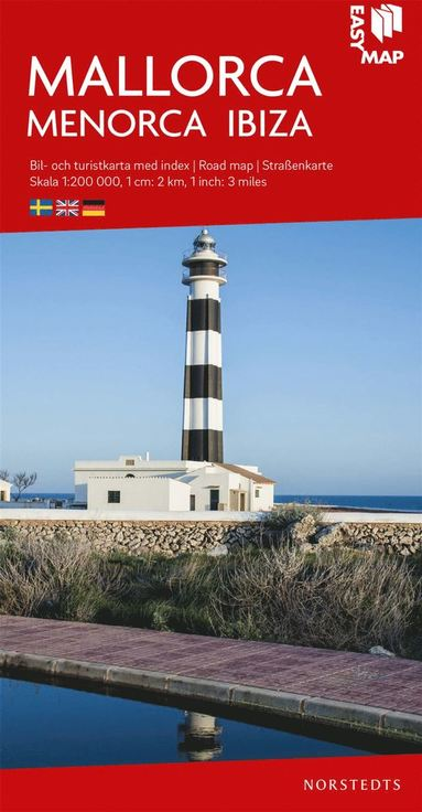 bokomslag Mallorca Menorca Ibiza EasyMap : Skala 1:200.000