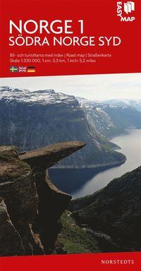 bokomslag Södra Norge syd EasyMap : Skala 1:330.000